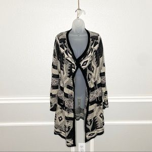 Lucky Brand southwestern waterfall open cardigan